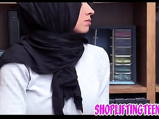 Muslim arab teen gets facial after shoplifting and sucking dick