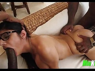 Mia Khalifa takes 2 big black cocks 7 95